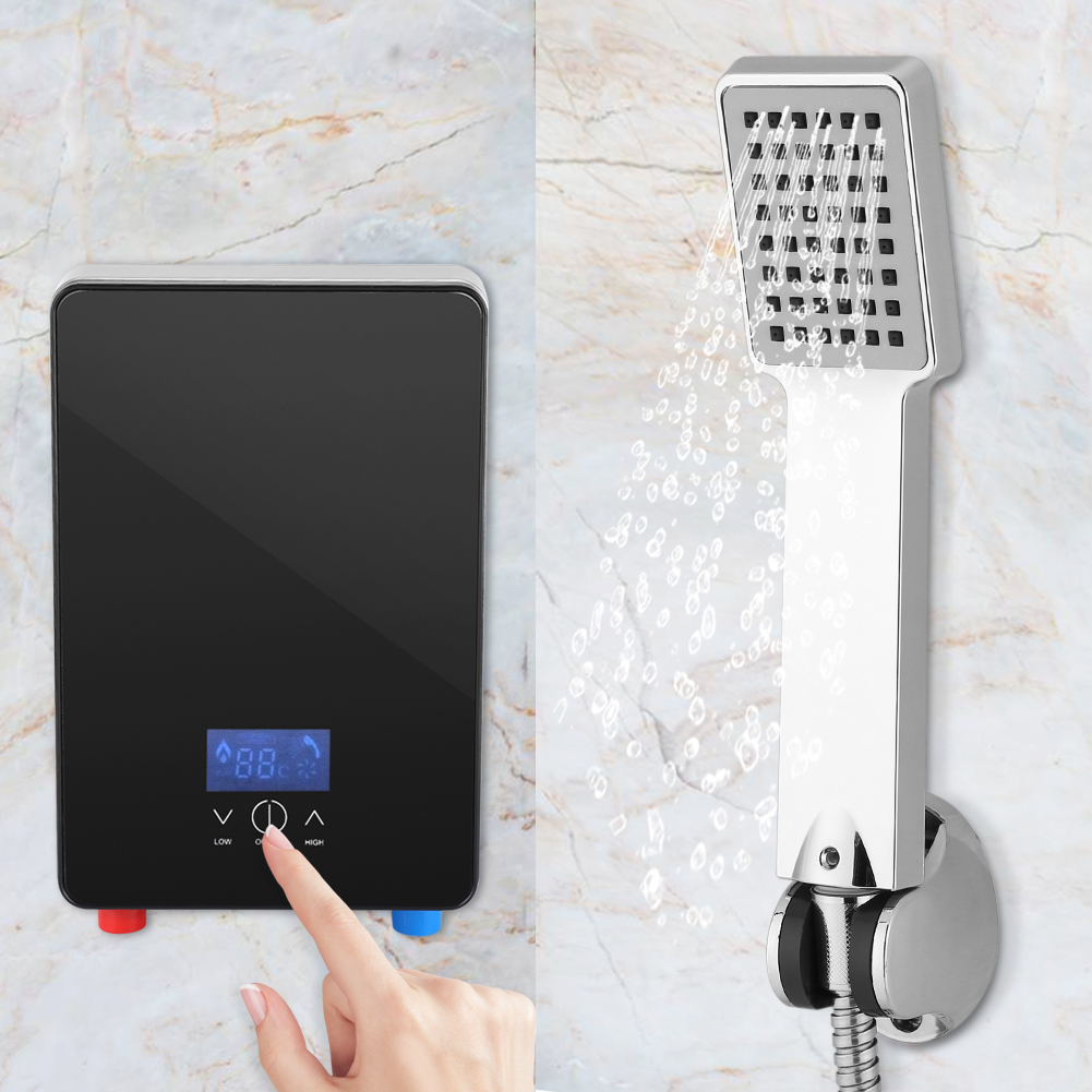 6500w tankless instantan chaudi re chauffe eau electrique salle de bains douche ebay. Black Bedroom Furniture Sets. Home Design Ideas
