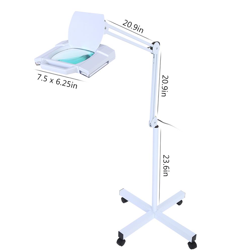Lens Beauty Work Reading Floor Desk Standing Magnifier 5x