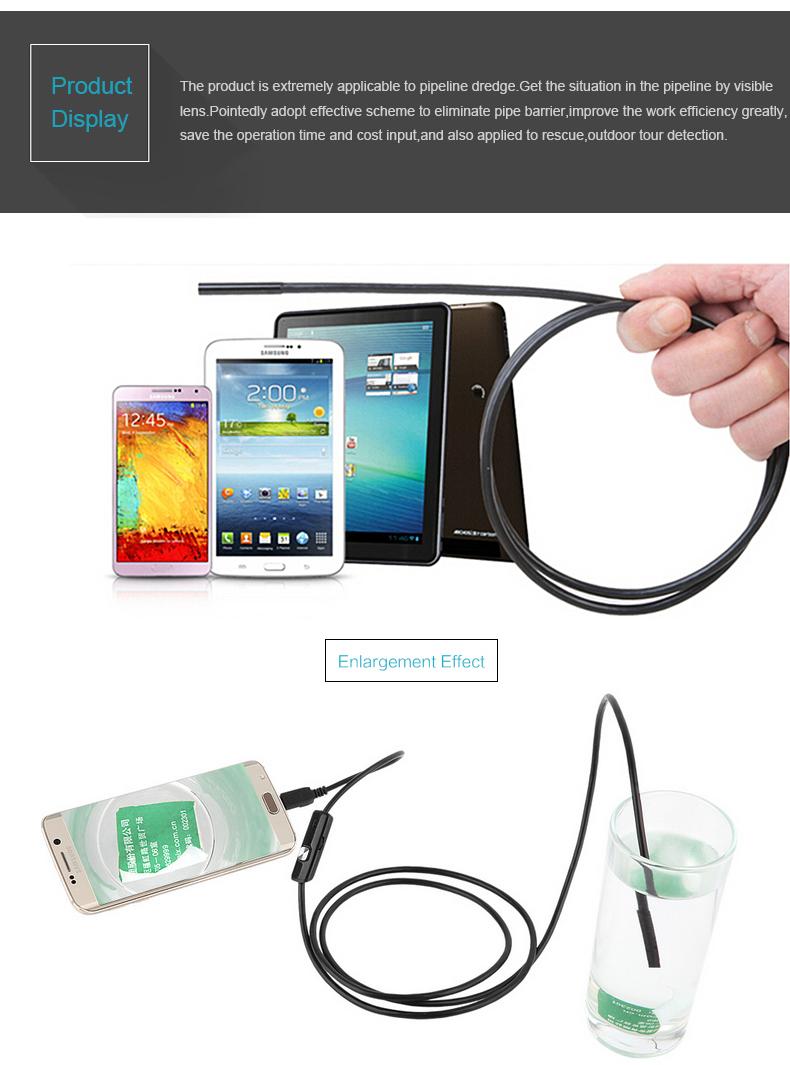 2m usb endoskop kamera 5 5mm hd inspektion 6 led f r handy. Black Bedroom Furniture Sets. Home Design Ideas