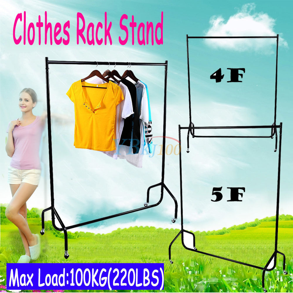 New High Quality Metal Clothes Hanging stand Garment Rack Display Rail 4//5//6 FT