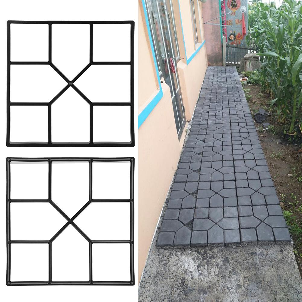 DIY Pflasterform Pflastermacher Schablone Betonpflaster Gießform Garten 2 Gr.