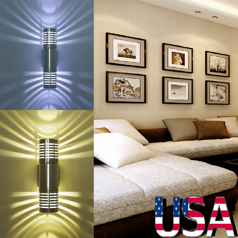 Modern Bedroom Accessories Bedroom Lighting Lux Levels Red Black And White Bedroom Bedroom Wall Decor For Guys: Durable LED Modern Wall Lamp Bedroom Bedside Lamp Fixture