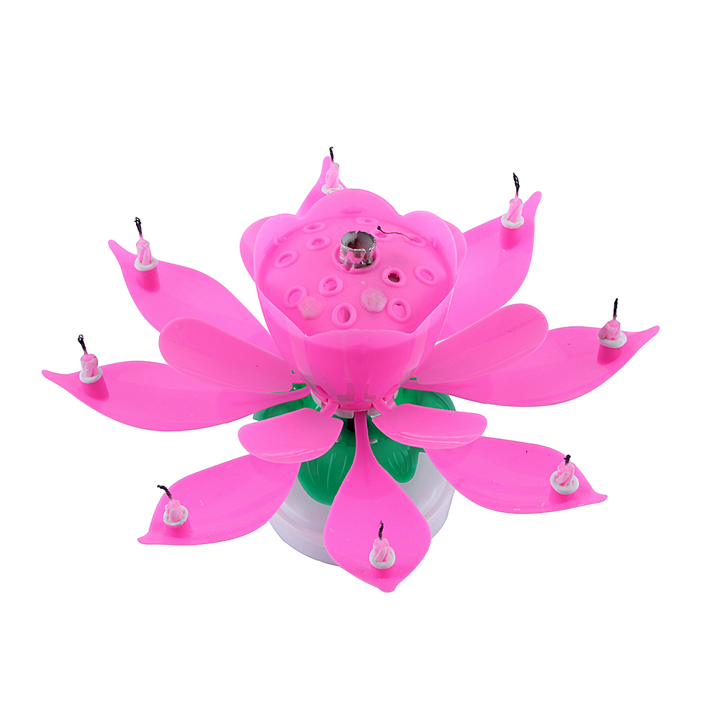 Colorful musical birthday cake topper rotate lotus flower blossom colorful musical birthday cake topper rotate lotus flower blossom candle decora izmirmasajfo