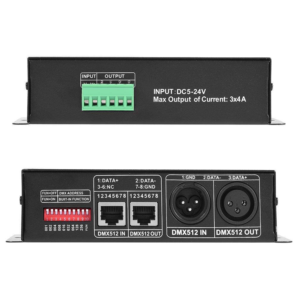 DMX 512 Controller Decoder 3 Kanal*4A Dimmer LED RGB Stripe Lampe ...