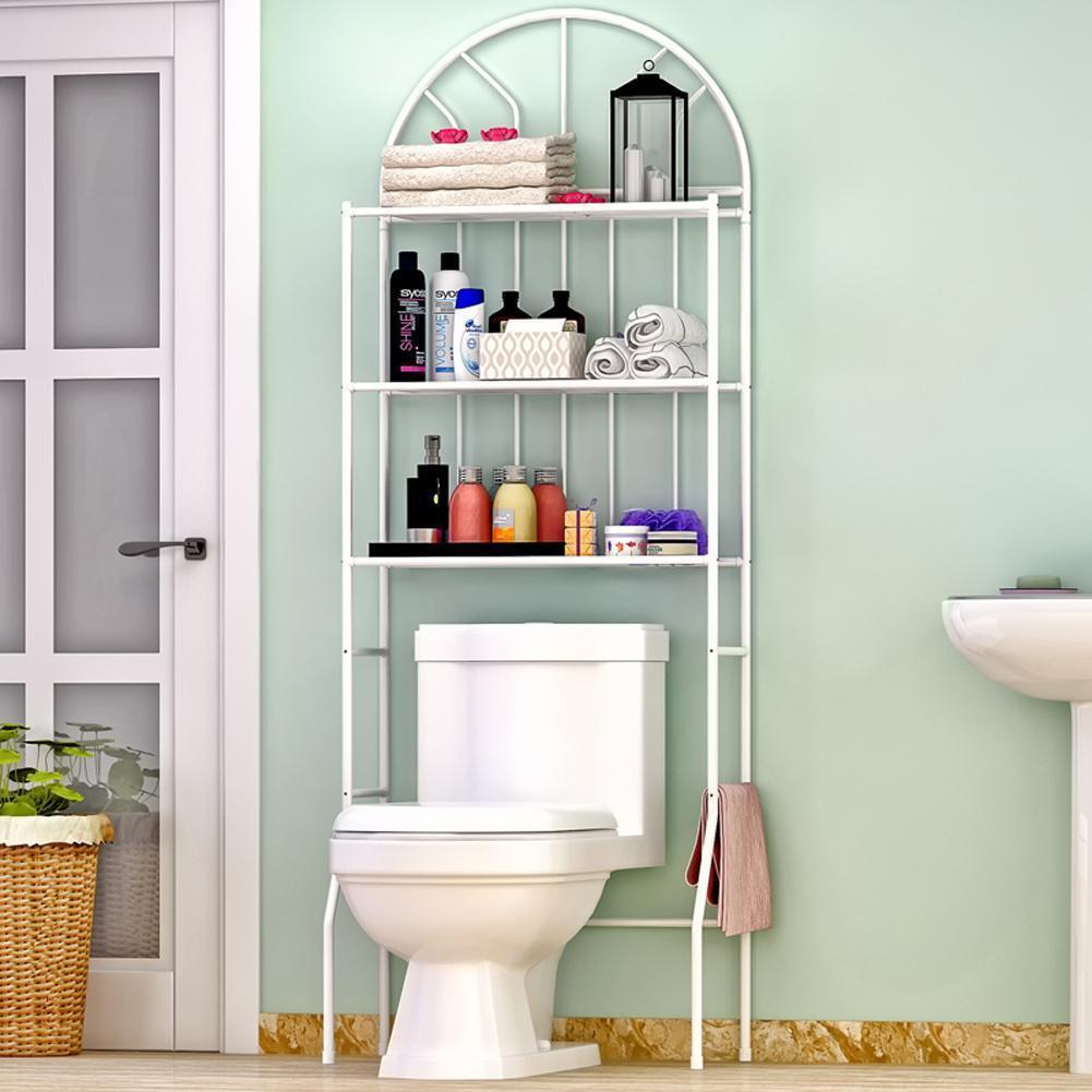 3 Shelf Over The Toilet Bathroom Space Saver Organizer Metal Towel Storage Rack 654936260566 Ebay
