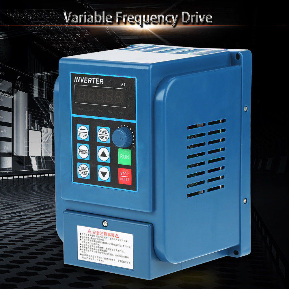 Single Phase/3-Phase VFD Variable Frequency Drive Inverter CNC Motor ...