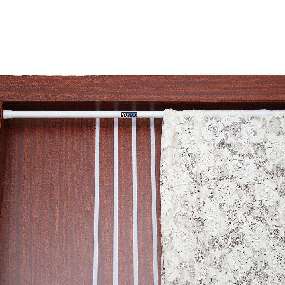 Extendable Net Voile Tension Curtain Rail Pole Rod Rods