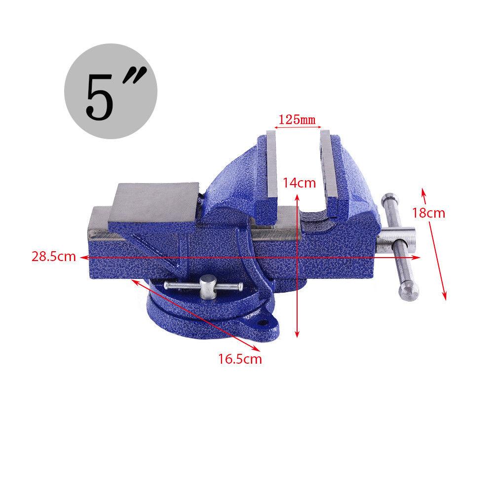 5 125mm schraubstock 360 drehbar mit amboss f r werkbank. Black Bedroom Furniture Sets. Home Design Ideas