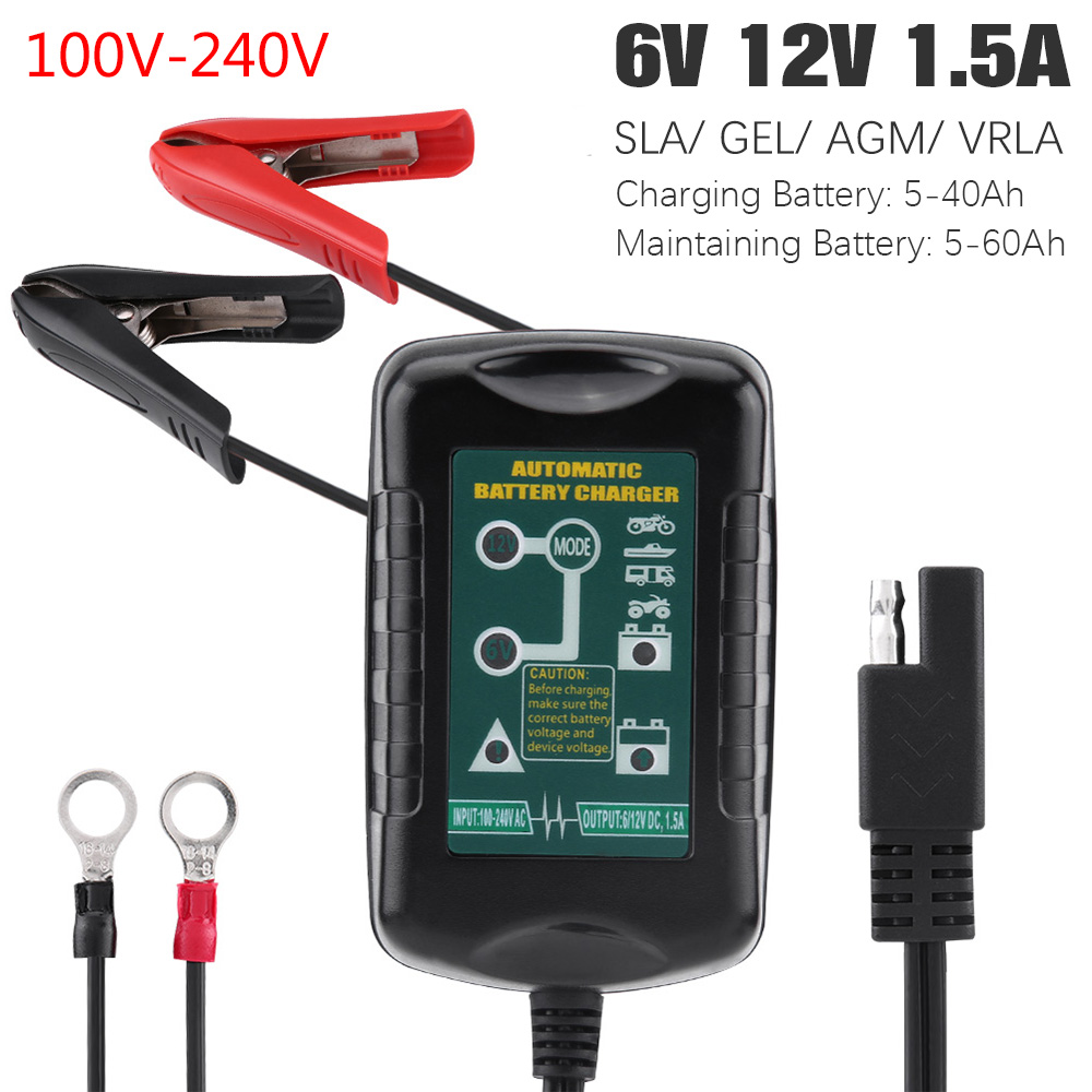 6v 12v 15a Car Battery Charger Maintainer Trickle Wet Gel 2a Lead Acid With Short Circuit Protection Mcu Agm Vrla