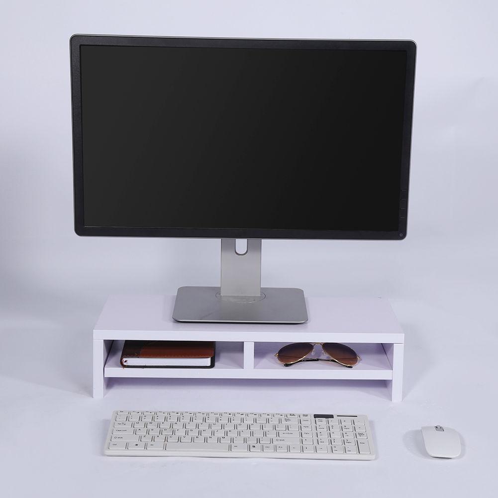 monitorerh hung bildschirmerh hung monitor st nder bildschirm pc regal aufsatz ebay. Black Bedroom Furniture Sets. Home Design Ideas
