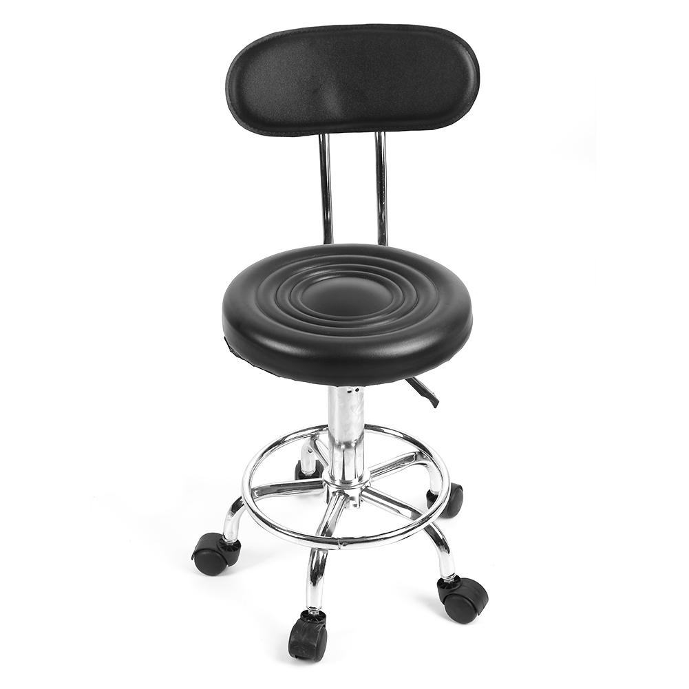 rollhocker drehhocker arbeitshocker drehstuhl h henverstellbar mit lehne gd ebay. Black Bedroom Furniture Sets. Home Design Ideas