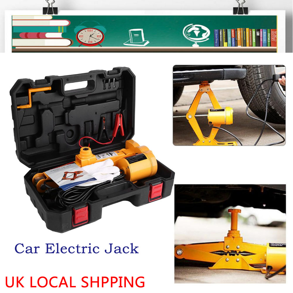 Details about Heavy Duty 3Ton Portable Car Electric Auto Lifting Jack 12V  Van Garage Equipment