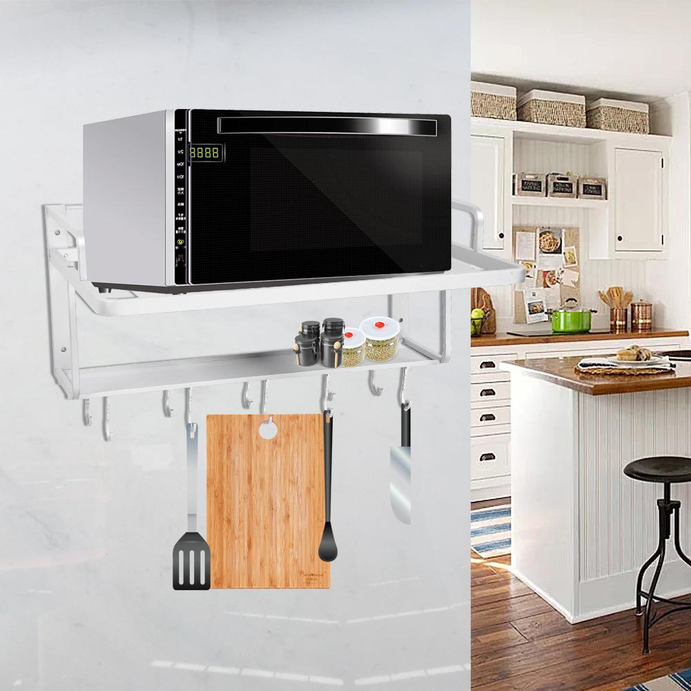 mikrowellenhalterung microwelle halterung ablage microwave wand regal mit haken ebay. Black Bedroom Furniture Sets. Home Design Ideas