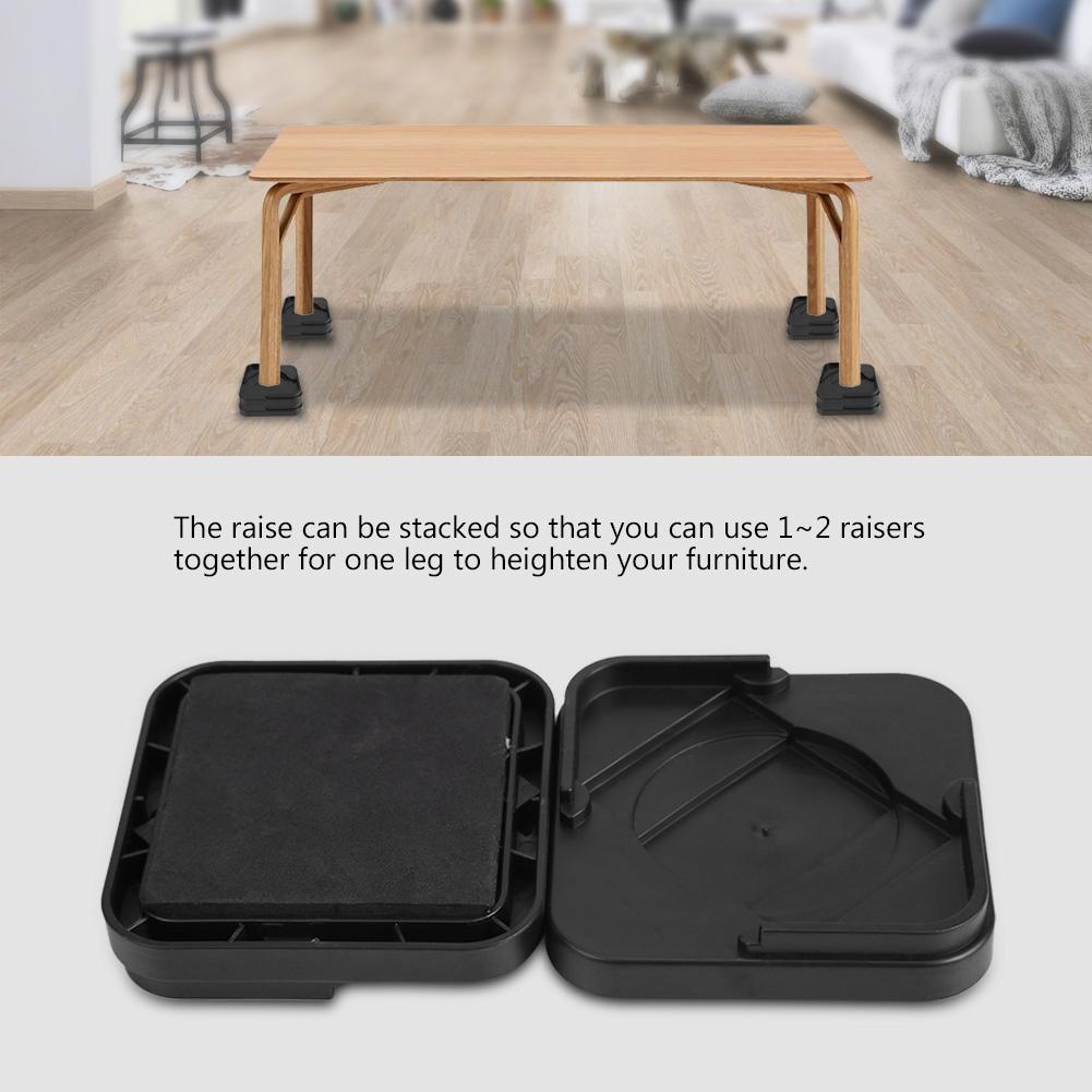 8pcs Anti Slip Furniture Lift Bed Frame
