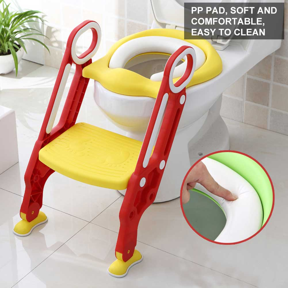 Pleasing Details About Baby Kids Potty Training Seat With Step Stool Ladder Child Toddler Toilet Chair Theyellowbook Wood Chair Design Ideas Theyellowbookinfo