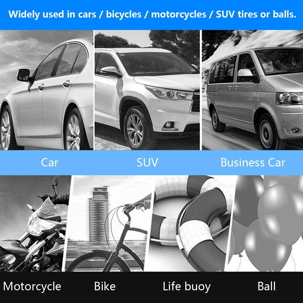 12V Tragbar Digital Auto Reifen Luftpumpe Kompressor 150PSI mit LED-Licht Kfz SD