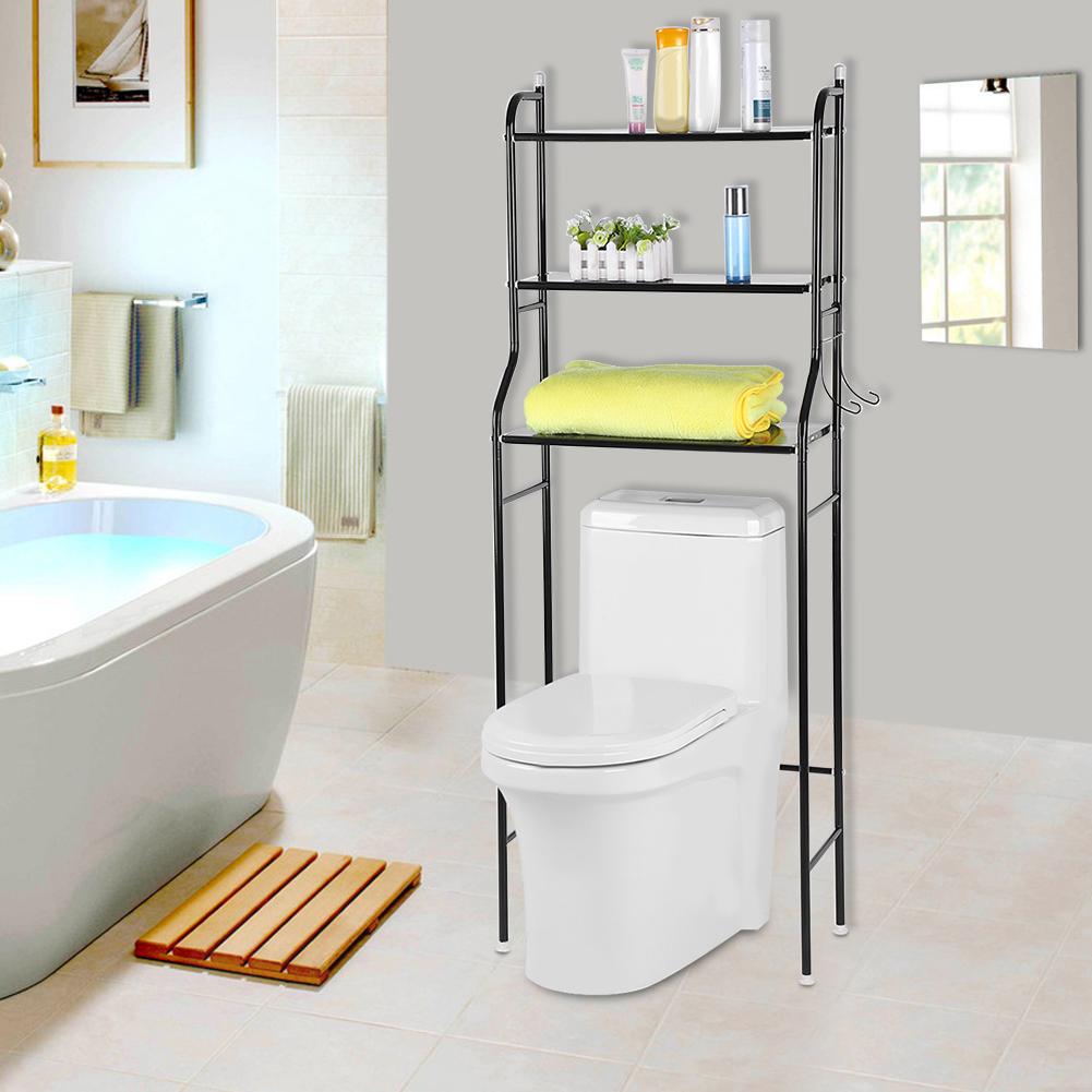 3 Tiers Bathroom Rack Over Toilet Laundry Washing Machine Storage Shelf Unit