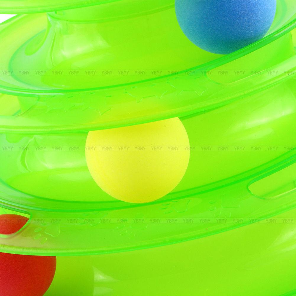 katzenspielzeug intelligenzspielzeug katzen spielring ball dreihscheibe gr n dhl ebay. Black Bedroom Furniture Sets. Home Design Ideas