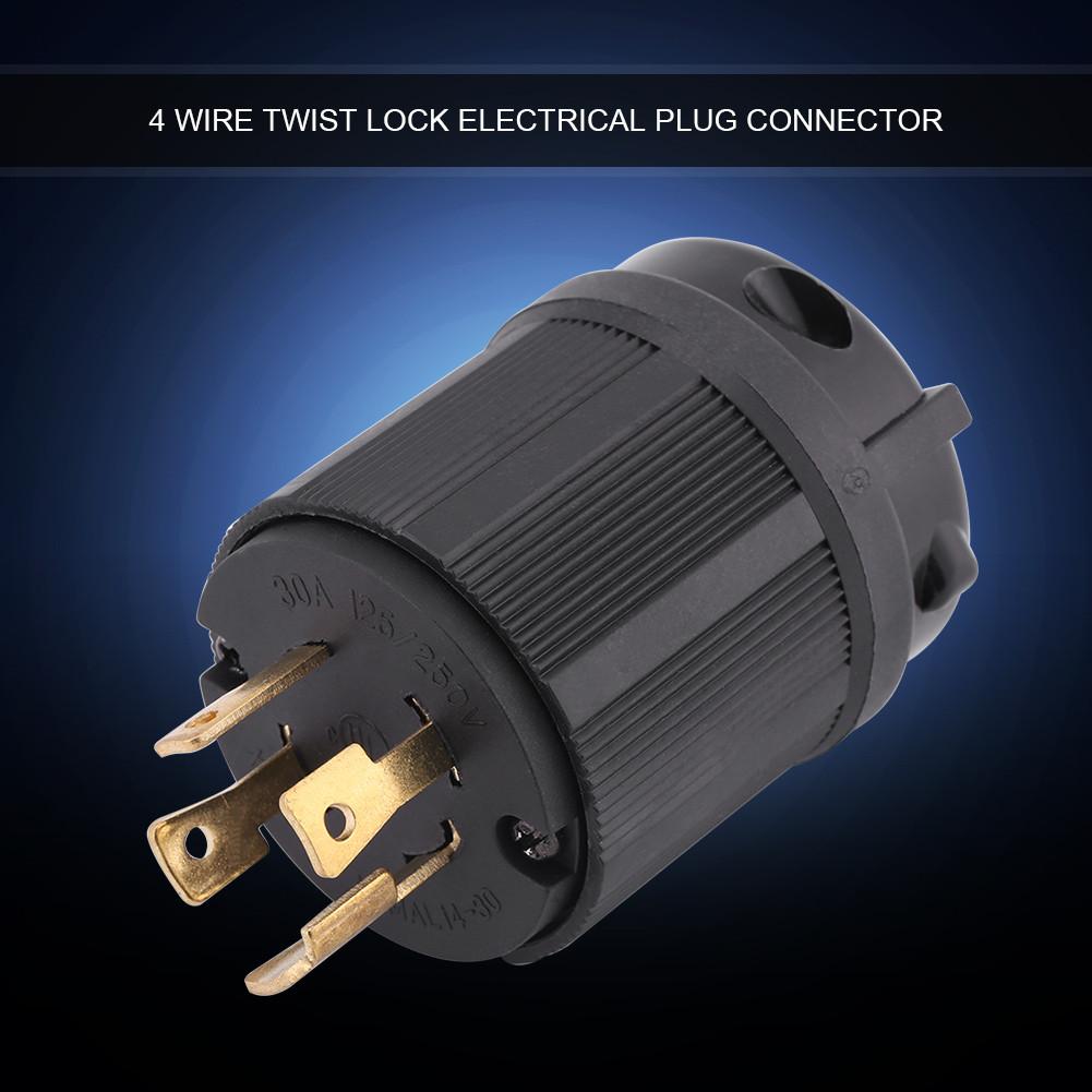 Nema L14 30p 30a 125v 250v Male Twist Lock 4 Wire Power Cord Plug Wiring A L1430p Electric Connector Copper Zg