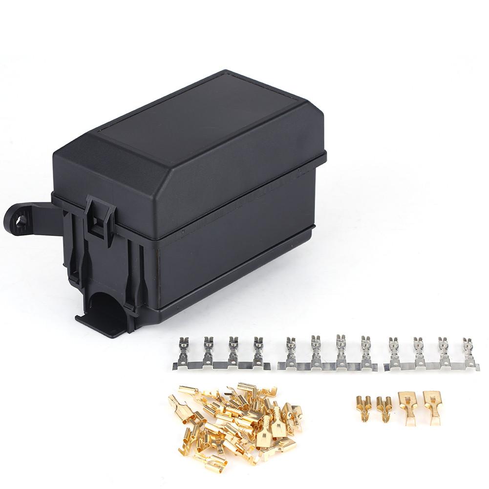 4 Pin Fuse Box 6 Relay Socket Block Holder for Auto Truck Pickup ATV  ECM0034whs