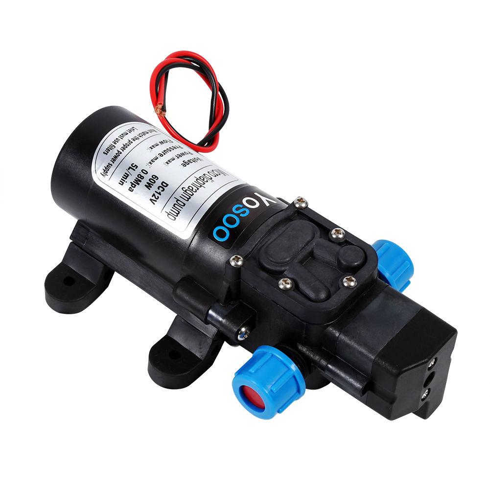 Wasserpumpe12V 60W Hochdruckpumpe Druckwasserpumpe  Membranpumpe 5L//Min 115PSI