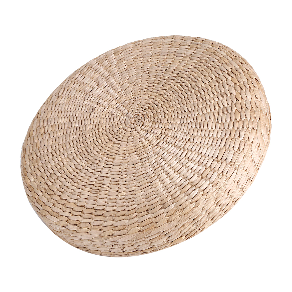 40cm Round Pouf Tatami Floor Pillow Seat Cushion Straw