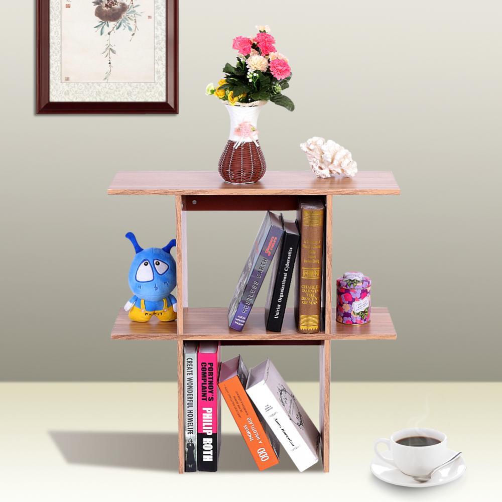 Mini Bookshelf Desktop Storage Rack Office Table Desk Organizer