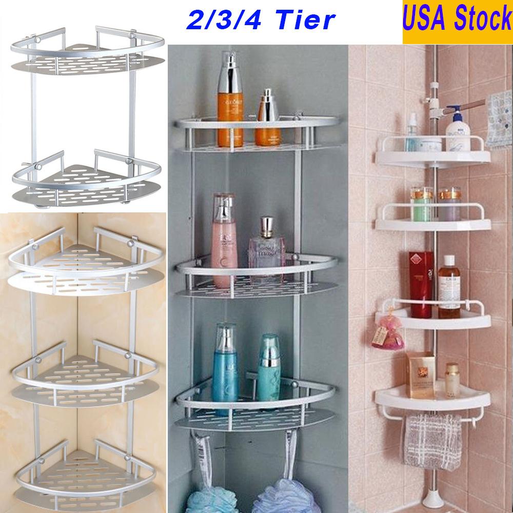 Triangle Bathroom Shower Caddy Shelf Corner Bath Wall Mount Rack ...