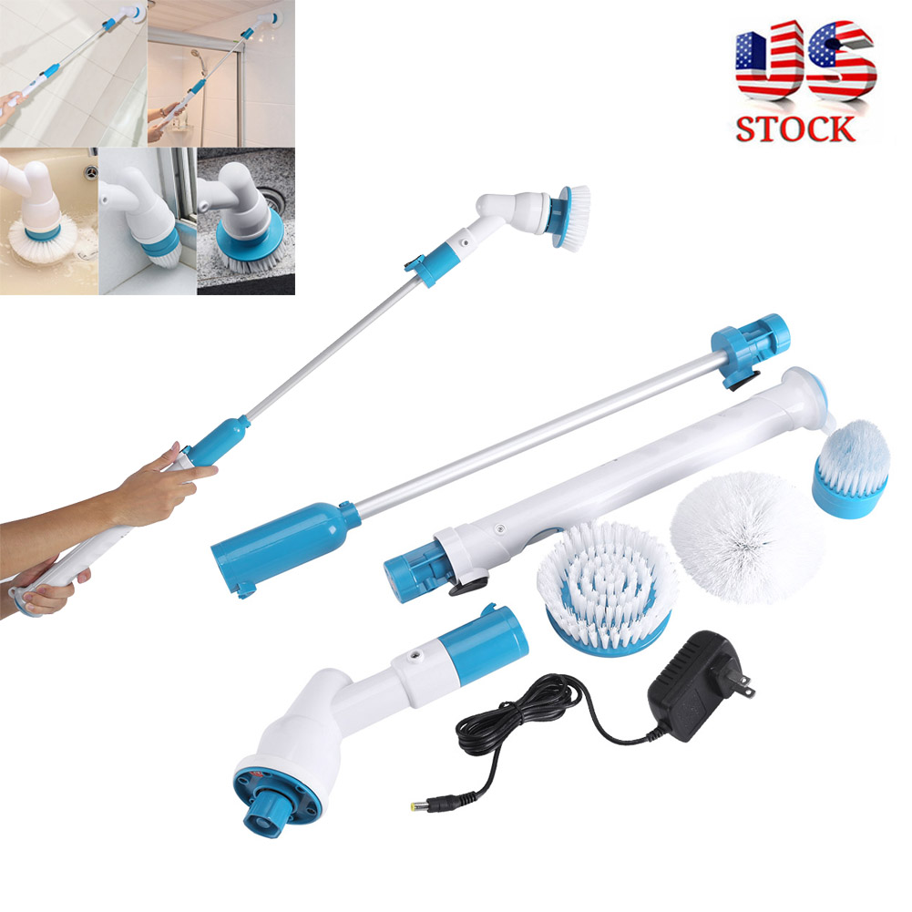3 Heads Electric Spin Scrubber Cleaning Brush Bathroom