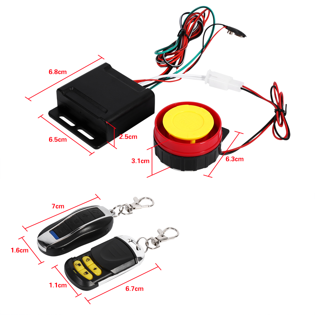Motorcycle Bike Alarm System Immobiliser Security Remote