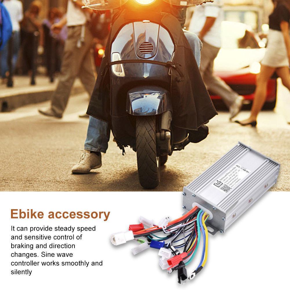 Alomejor Brushless Controller 48V 500W Brushless Motor Sine Wave Controller for E-Bike Conversion Kit 