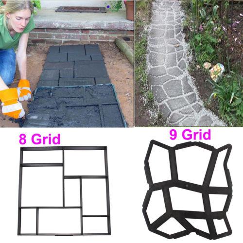 Driveway Paving Brick Patio Concrete Slabs Path Pathmate Garden Walk Mould Make