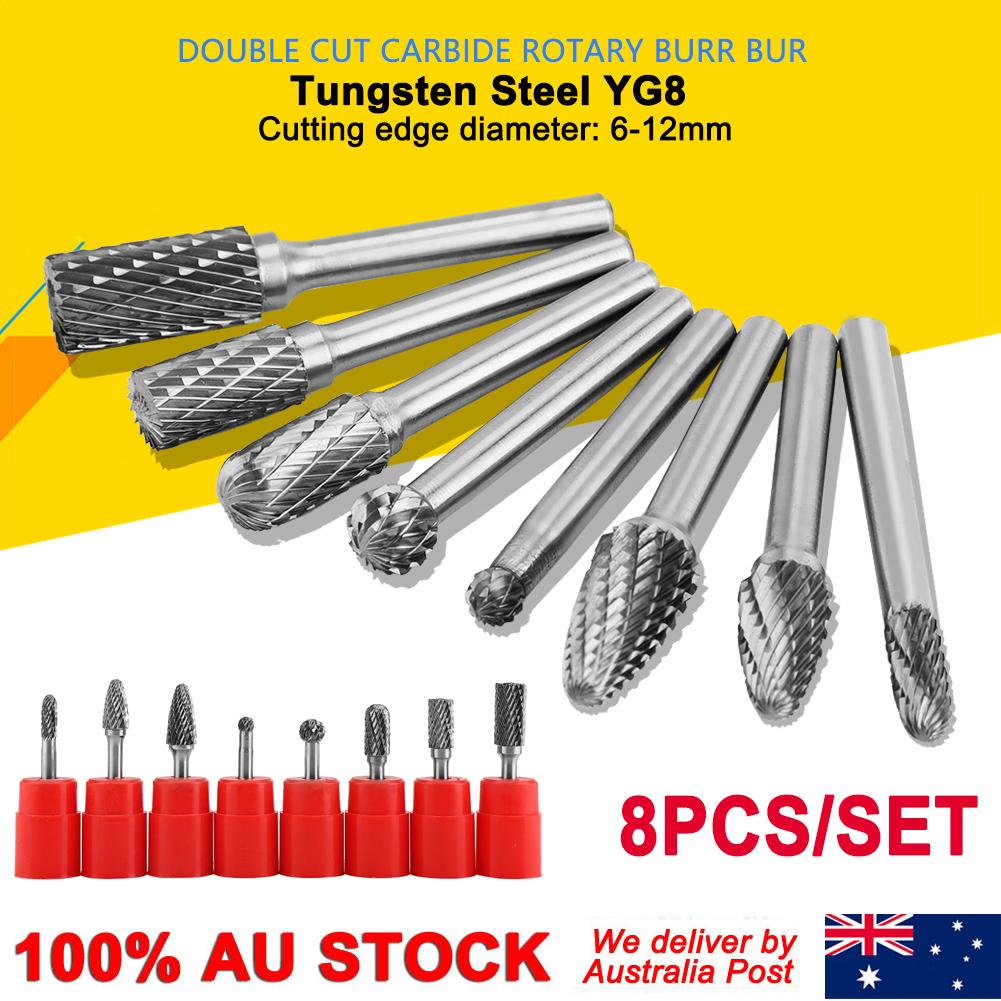 5 pieces 12MM head THK Tungsten Carbide Rotary point Burr die grinder 6mm shank