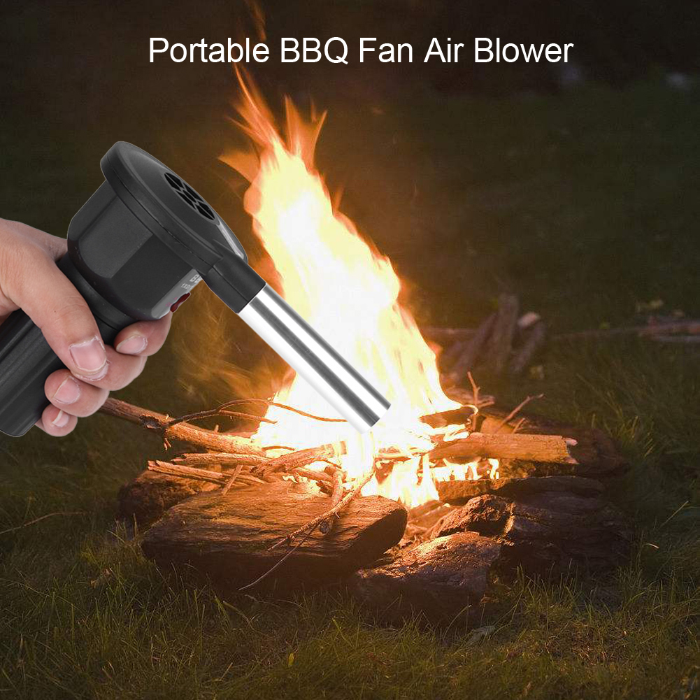 Portable Electricity Cooking Bbq Fan Air Blower For Picnic