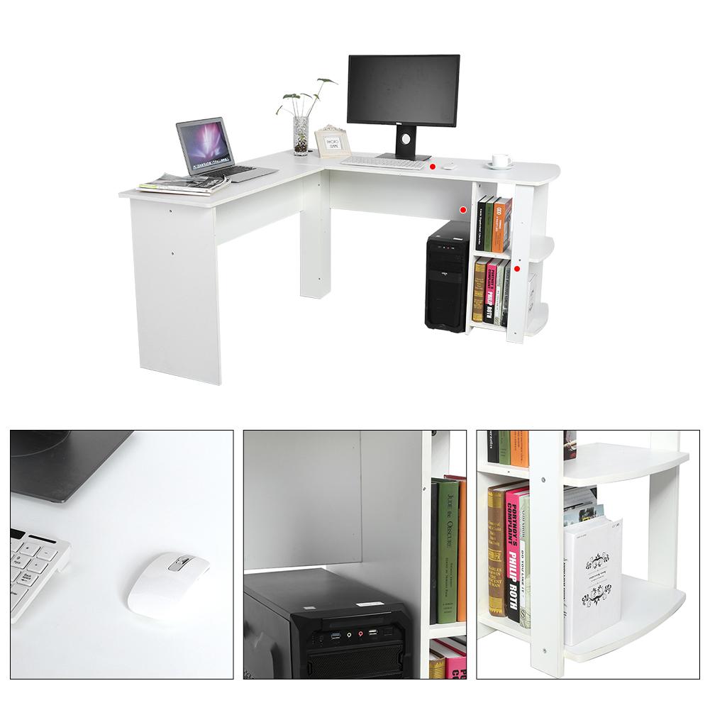 Computertisch PC Tisch Schreibtisch Arbeitstisch Eckschreibtisch L-Form 2 Farben