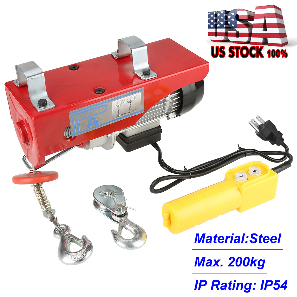 440 Lb Overhead Electric Hoist Crane Lift Overhead Garage