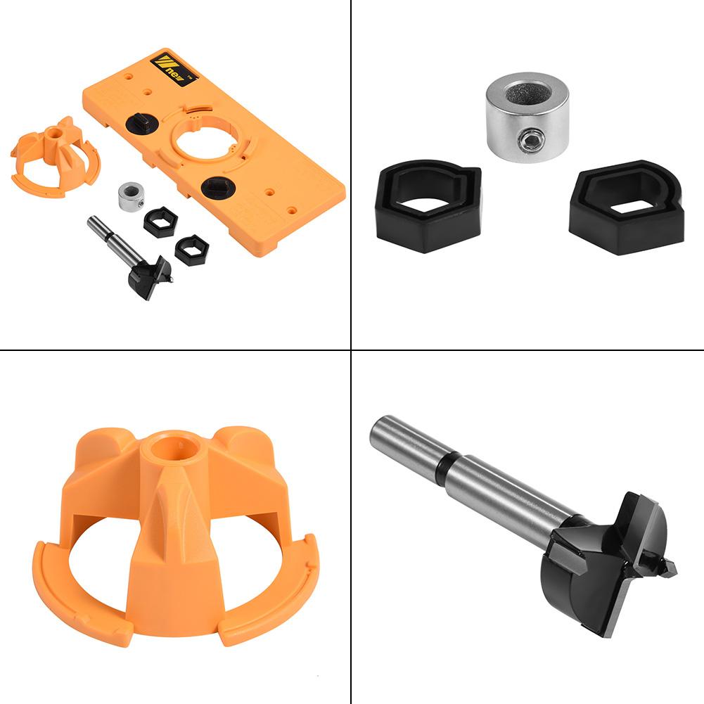 35mm Concealed Hinge Jig Drill Guide Set Door Boring Hole