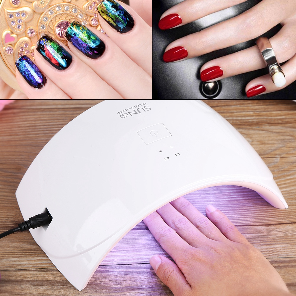 24W Professional LED UV Nail Dryer Gel Polish Lamp Light Curing Manicure Machine