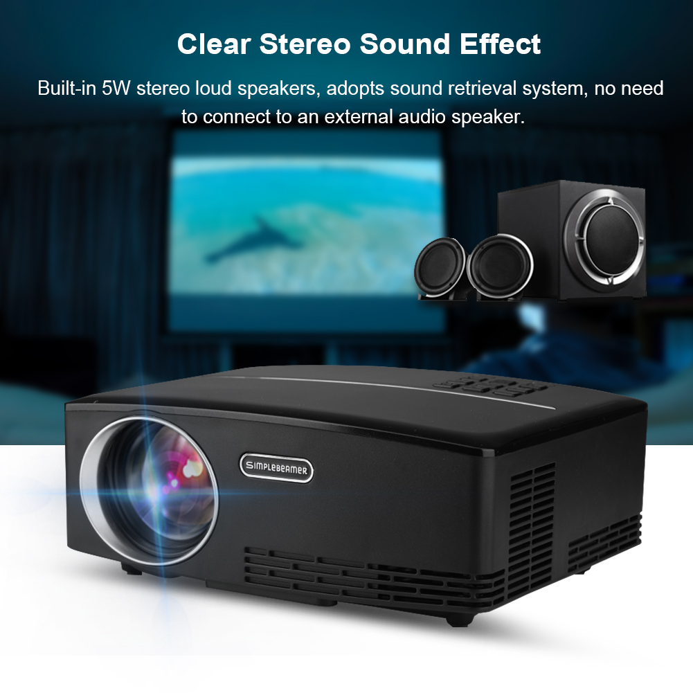 Hd Home Theater Multimedia Lcd Projector: 7000Lumens HD Multimedia LCD LED Projector Home Cinema