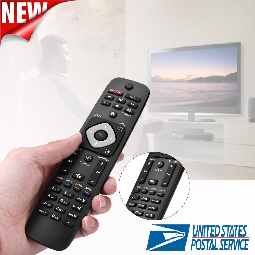 New Black Universal Smart TV REMOTE Control Philips TV