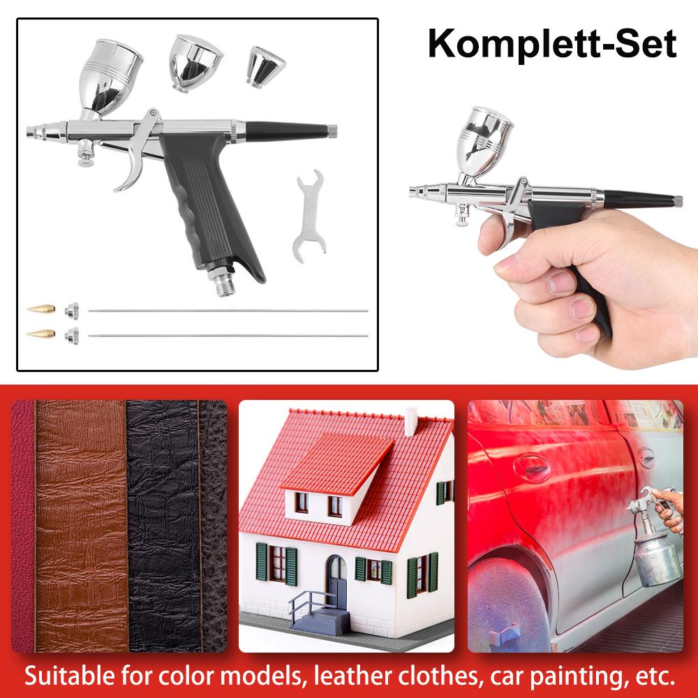 airbrushpistole spritzpistole airbrush pistole set mit 0 3. Black Bedroom Furniture Sets. Home Design Ideas
