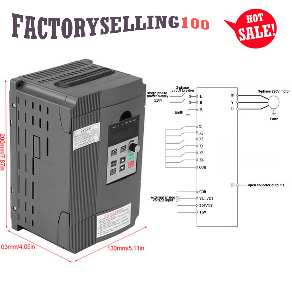Single Ph 3ph 22kw Variable Frequency Drive Inverter Pwm Motor Circuit Vfd Control V F Closed Loop At 2200s