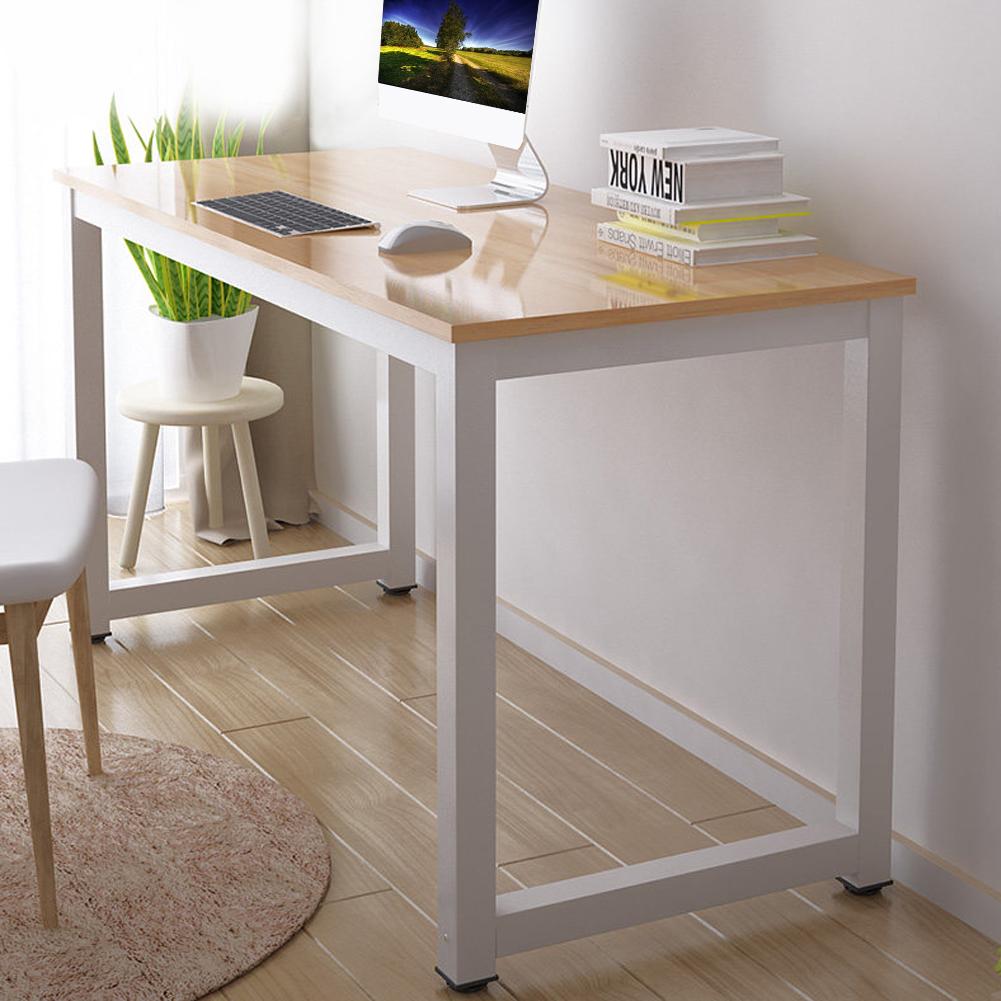 computertisch schreibtisch arbeitstisch b rotisch laptoptisch holz metall good ebay. Black Bedroom Furniture Sets. Home Design Ideas