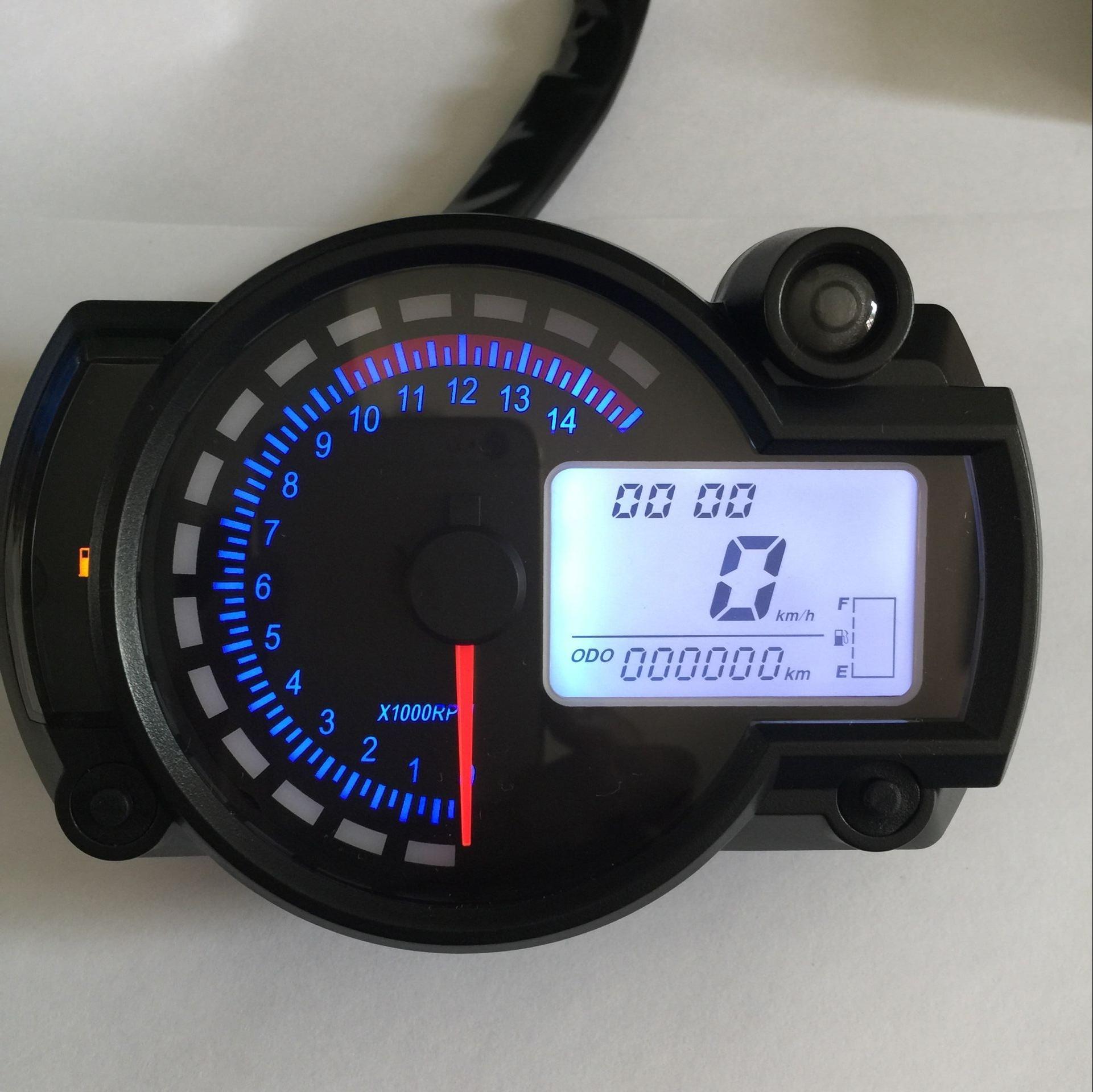 Universal Lcd Digital Motorcycle Speedometer Gauge