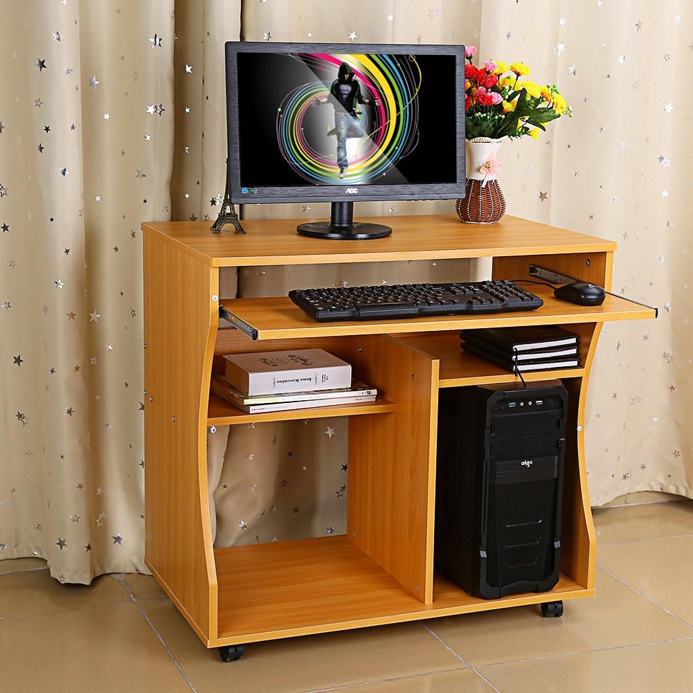 Schreibtisch computertisch arbeitstisch kindertisch pc for Schreibtisch rollbar