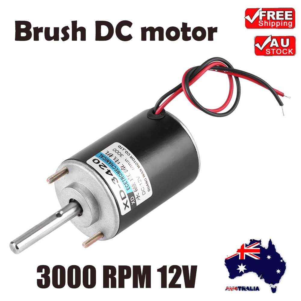 12v High Speed 3000rpm Permanent Magnet Electric Dc Motor