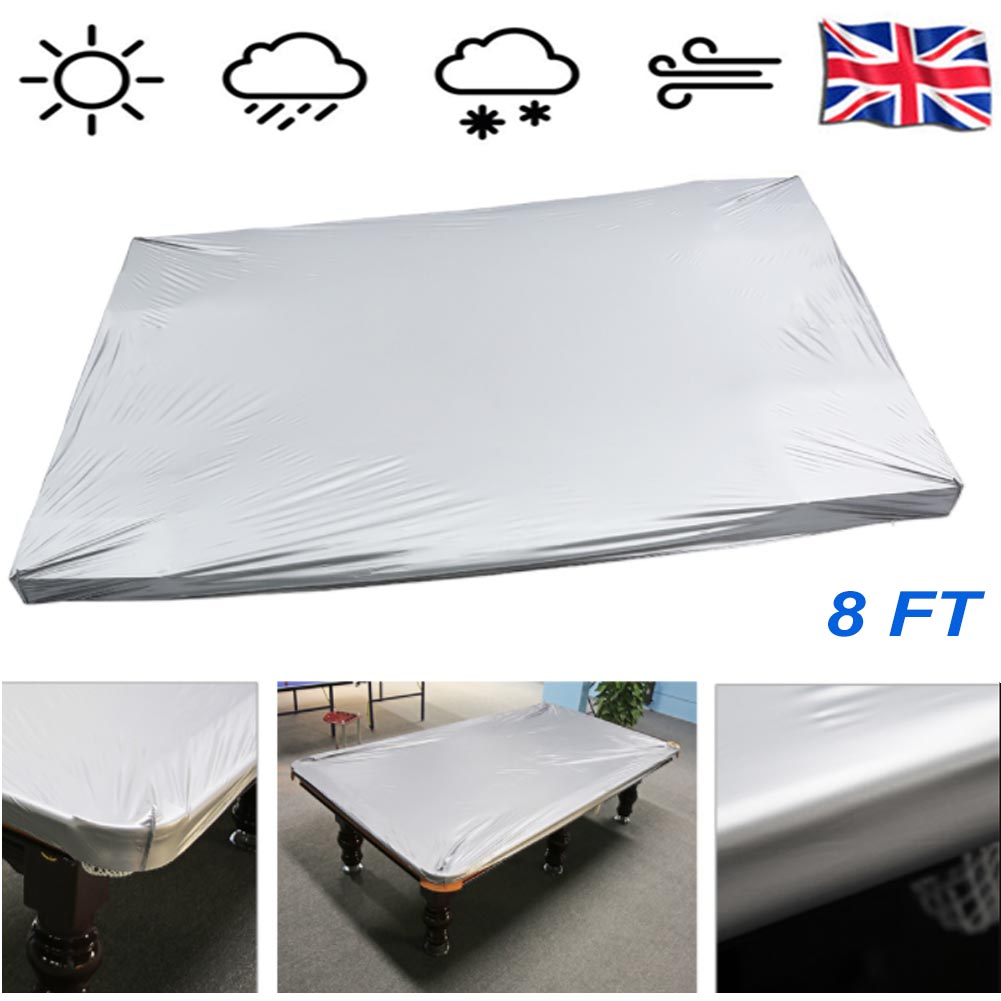 Superb Details About Pool Billiard Table Cover Fits 8Ft Heavy Gauge Waterproof Pvc Cloth Elasticated Interior Design Ideas Ghosoteloinfo