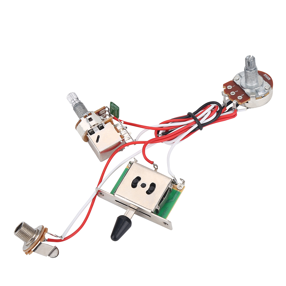 Electric Guitar Prewired Wiring Harness Kit 3 Way Toggle Switch 1v1t 500k Pots G
