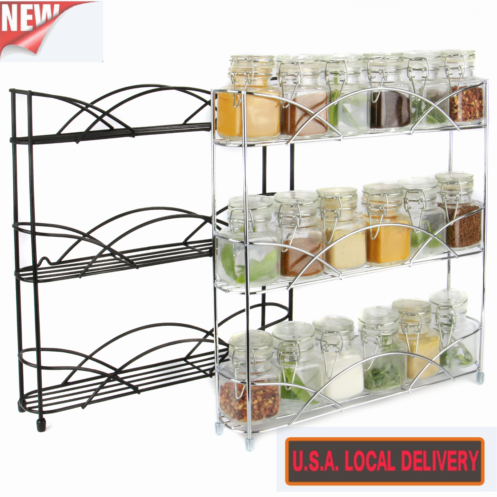 Wall Cabinet Spice Rack: Kitchen Wire Spice Rack