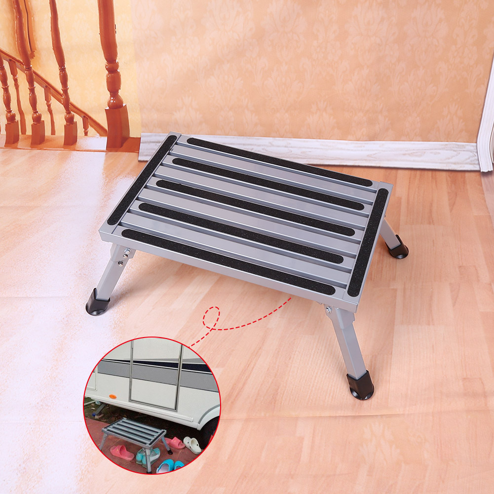 Remarkable Details About Portable Folding One Step Ladder Aluminium Non Slip Stool Safety Step Stool Us Pabps2019 Chair Design Images Pabps2019Com